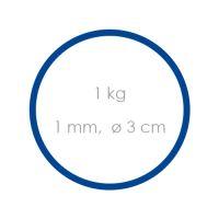 Gumičky modré tenké (1 mm, O 3 cm) [1 kg]