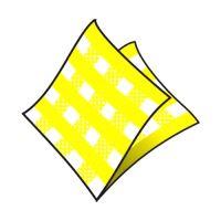 Ubrousky1-vrstvé 33 x 33 cm karo žluté 100 ks