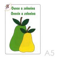 Omaľovánka A5 Ovocie a zelenina