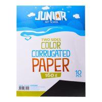 Dekorační papír A4 černý vlnkový 160 g, sada 10 ks