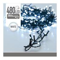 Vánoční mikrožiarovky LED 480 8 mm - studená bílá, 39 m