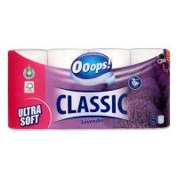 Toaletní papír Ooops! Classic Lavender 3-vrstvý, 8 ks / bal