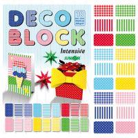 Blok dekoračního papíru - výkres DECO BLOCK B4 24x34 cm, 250g (18 ks) mix 6 vzorů/x3