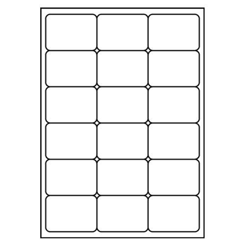 Etikety PRINT A4 / 100 ks, 68x46,8 - 18 etiket, bílé