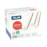 Křída MILAN kulatá bílá bezprašná 100 ks