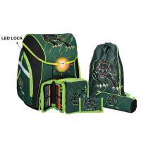 Školní aktovka - 5-dílný set, PRO LIGHT Panther, LED