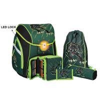 Školská taška - 5-dielny set, PRO LIGHT Panther, LED