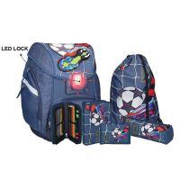 Školská taška - 5-dielny set, PRO LIGHT Football Goal, LED