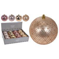Vánoční koule - PP 100 mm/růžovo-zlatá, mix/1ks