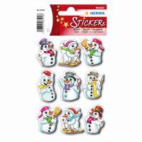 Vánoční etikety Magic - sněhuláci