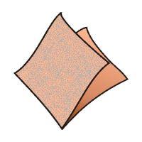 Ubrousky 1-vrstvé 33 x 33 cm apricot 100 ks