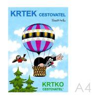 Omalovánka A4 Akim - Krtek cestovatel