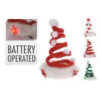 Čapica vianočná na klipe s LED 12 cm, mix/1ks