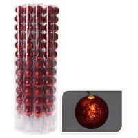 Svítící řetěz 10 LED - červené koule 12x50 mm, 330 cm