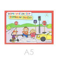 Omalovánka A5 Litera - Dopravní značky