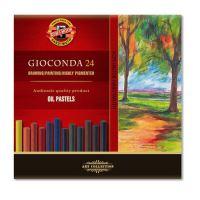 Křídy gioconda olej. 24 ks