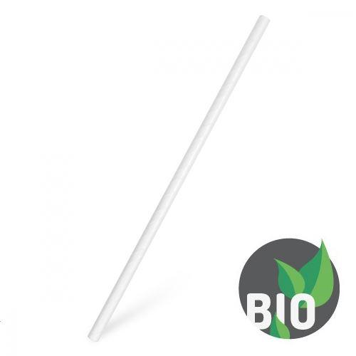Slámky papírové JUMBO bílé 15 cm, 100 ks