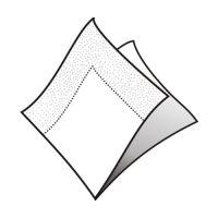 Ubrousky 2-vrstvé 33 x 33 cm bílé 50 ks