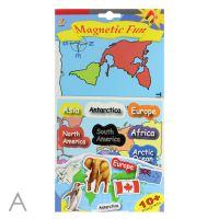 Magnetická hra - Poznej kontinenty, vlajky, zvířata a vesmír