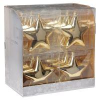Vánoční ozdoba - PP zlatá - hvězda 15 cm, 1ks