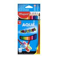 """Pastelky MAPED """"Color Peps"""" akvarelové se štětcem, 12 ks"""