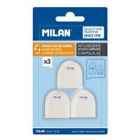 Náhradní gumy MILAN pro ořezávátka CAPSULE, sada 3 ks