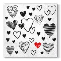 Ubrousky PAW L 33x33cm Crazy Love Black