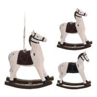 Figurka závěsná - Kůň houpací 12 cm, mix / 1ks