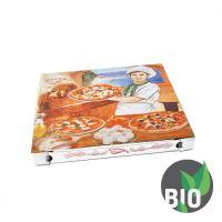 Krabice na pizzu z vlnité lepenky 32 x 32 x 3 cm, 100 ks