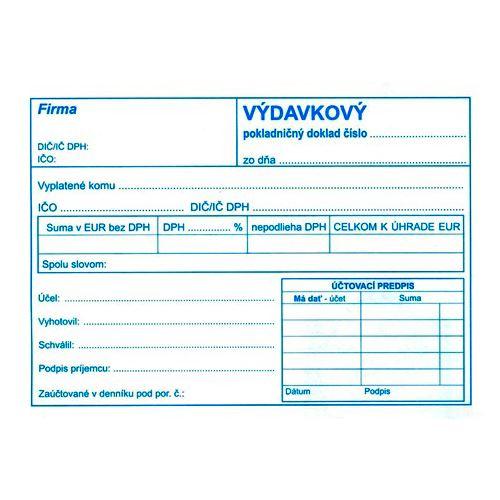 Výdajový pokl.. doklad s DPH A6, samopr. (52)