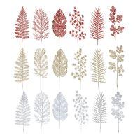 Dekorace - Listy mix barev 30 cm, sada 3ks