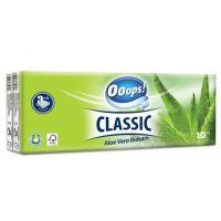 Hygienické kapesníky Ooops! Classic Aloe Vera 3-vrstvé, 1 ks