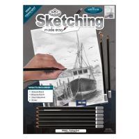 RB Kreativní sada na skicování - Rybářská loď