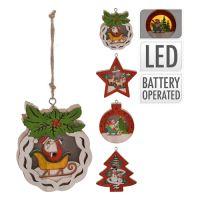 Dekorace / různé tvary - svítící LED - teplá bílá 10 cm, mix / 1ks