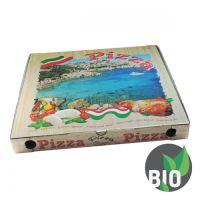 Krabice na pizzu z vlnité lepenky 50 x 50 x 5 cm, 100 ks