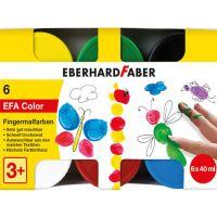 Barvy prstové 40 ml - sada 6 základních barev