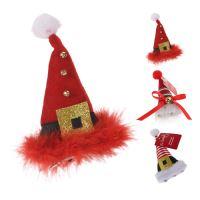 Čepice - Santa Claus na klipu - různé druhy 12 cm, 1ks