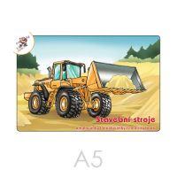 Omalovánka A5 Stavební stroje