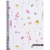 Blok A4 s boční spirálou, Soft Romantic Nature Herbal