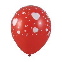 """Balóny nafukovací bílé srdce """"L"""" (5 ks)"""