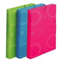 Box na spisy s gumou A4, Neo Colori zelený