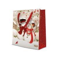 Dárková taška PAW Snowy Family, medium - 20x25x10 cm