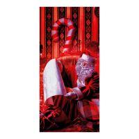Sáčky - Mikuláš čítající 20x40 cm, červený