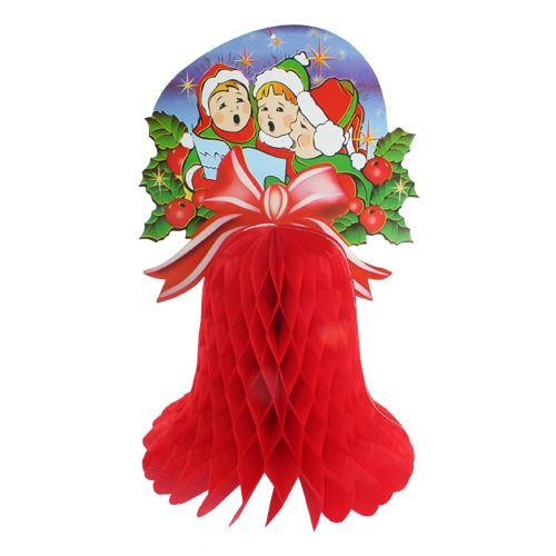 Vánoční ozdoba zvon + pap. ozdoba